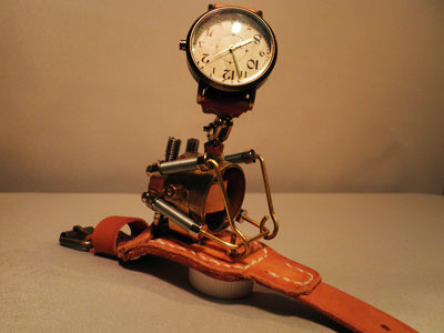 "Mac Nakata Art Watch, Steampunk ""French Bulldog"""