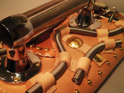 Steampunk iron wallet