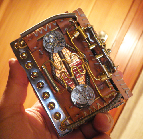 unforgettable steampunk business card case